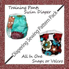 EASY Baby Cloth Diaper Sewing Pattern AIO Fitted Nappy