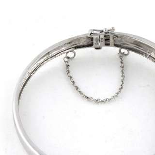 New 14k White Gold 2.0ct Diamond Bangle Bracelet, Invisible Setting