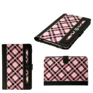Kindle Fire eReader Case Sleeve (Pink Plaid Pattern