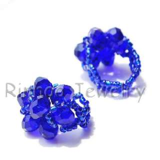 90pcs #6 9 Handcraft Faceted Crystal Glass Beads Rings