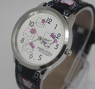 Wonderful Black HelloKitty Lady Girls Quartz Wrist Watch,Y2 BK