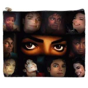 Many Faces of Michael Jackson King of Pop Cosmetic Bag