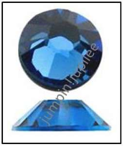SAPPHIRE BLUE Swarovski New 2058 Flatback Rhinestones 144 pieces 4mm