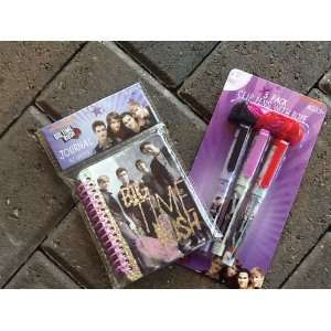 Big Time Rush 3 Pack Rope Clip Pens with Journal Toys