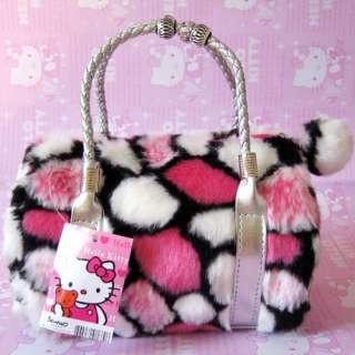 Rose Hello Kitty Plush handbag Hand Bag Tote Make Up Bag 2202