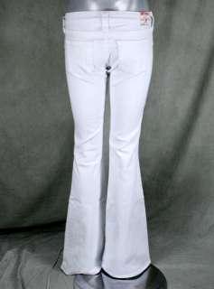 True Religion Jeans womens CARRIE Skinny wide flare leg WHITE optic