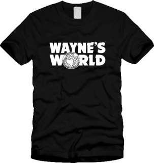 WAYNES WORLD T SHIRT logo SNL saturday night live 90s