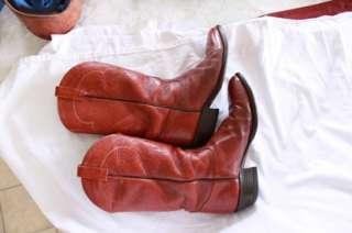Tony Lama Leather Western Cowboy Boots Size 9 EE #5084 Brown Mens