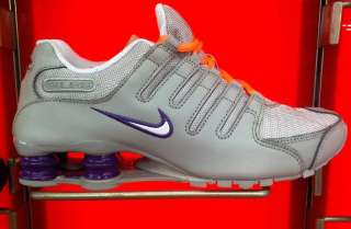 Nike Shox NZ White Purple orange Grey Women sz