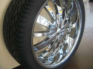 24 CHROME RIMS+TIRES AVALANCHE ESCALADE TAHOE DENALI H3