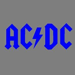 AC/DC (BLUE) DECAL STICKER WINDOW CAR TRUCK FORD CHEVY