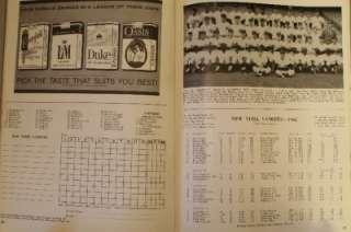 1962 New York Yankees San Francisco Giants World Series Program Mantle