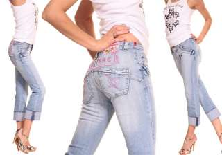 NEW WOMEN BLUE JEANS CAPRIS PANTS TOP SEXY FASHION 22W* 2XS