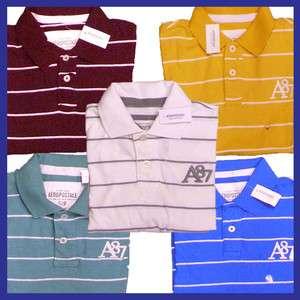 Striped Logo Polo Shirt A87 Stripe Polos Shirts Stripes AERO