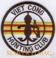 VIET CONG HUNTING CLUB VIETNAM PATCH MARINES ARMY NAVY