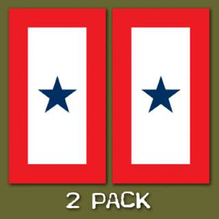 Blue Star Mother Military Service Flag Sticker 2 Pack