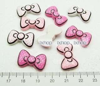 18 Hello Kitty Polka Dot Bow ResinFlatback Cabochon 6006 30360