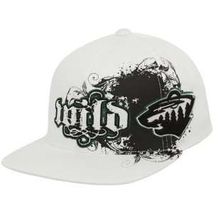 47 Brand Minnesota Wild White Clawson Closer Flex Fit Hat