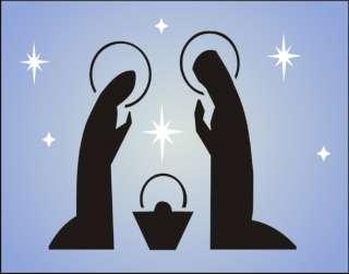 New Stencil #S224 ~ Lg size, Christmas Nativity Joseph Mary Baby