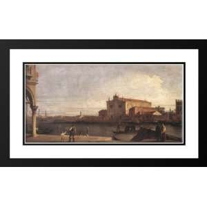 Canaletto 24x16 Framed and Double Matted View of San