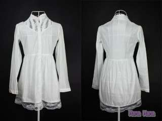 Boho Ladies NEW 80s 60s Shirt 70s Womens White Lace Top Blouse