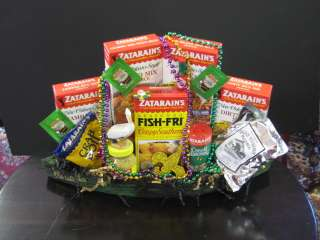 Louisiana Products Gift Basket in Wood Pirogue Boat