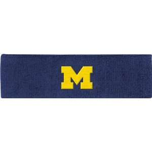 Michigan Wolverines adidas Navy Basic Logo Headband: Sports & Outdoors