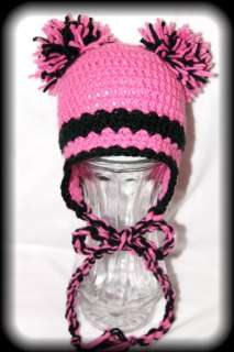 Boutique baby,toddler Girl Crochet Beanie Flower Hat  ( u choose