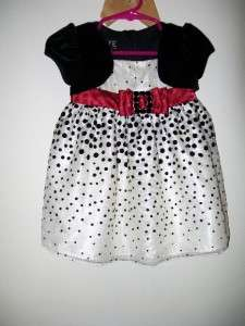BABY GIRLS LOVE SPECIAL OCCASION BRAND NEW CREAM W/ BLACK POLKA DOT