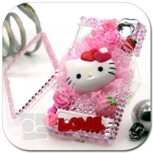 Hello Kitty 3D Bling Crystal Hard Case Verizon Motorola Droid 2 Global