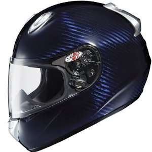 Advanced Carbon Blue Full Face Motorcycle Helmet   Size