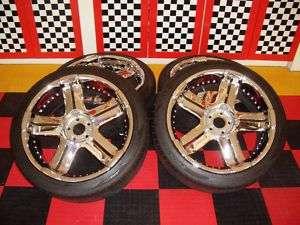 Set of four (4), 22 Kaotik FIX Wheel Chrome 5 Lug 5x5 Rims