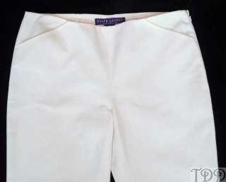 new without tags ralph lauren purple label white cotton capri pants