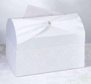 White Satin Wedding Card Box Holder Wishing Well