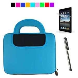 Apple iPad Two Tone Color Case + Anti Glare Screen Protector + White