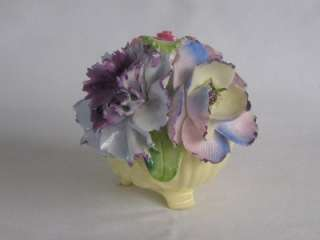 Vintage Handmade Radnor Art Pottery Bone China Staffordshire Floral