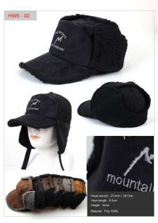 Winter Trooper Fly Fishing Warm hats Suede Camois dog ear hat Ear Flap