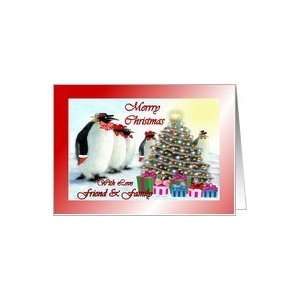 ~ Friend & Family ~ Whimsical Penguins / Christmas Tree / Gifts Card