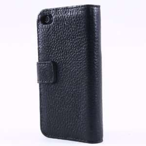 New Embossed Genuine Leather Flip Case Cover Pouch for Iphone
