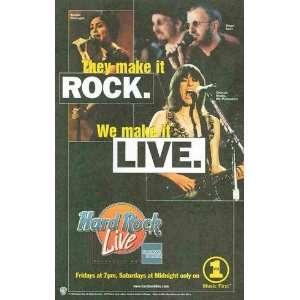 Hard Rock Live VH 1: Ringo Star, Natalie Imbruglia, Chrissie Hynde The