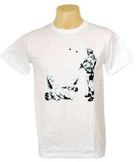Sniper Shoot Cupid Love Indie Guys T shirt Stencil L