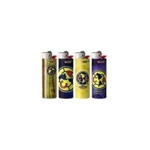 4pc Full Size Set LAS Aguilas Club America BIC Lighters Mexican Soccer