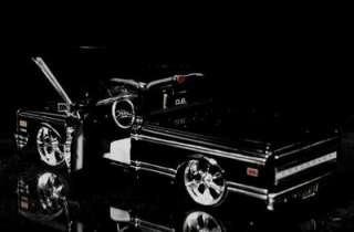 1972 Chevy Cheyenne Pickup DUB CITY Diecast 124 Scale   Black
