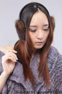 608 new real mink fur brown earmuff ear muffs/cap/hat