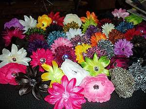 WHOLESALE LOT 25 GIRLS gerber DAISY peony LILLY flower CRAFT hair