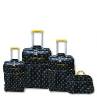 Ed Hardy Italy Tiger 4 Piece Luggage Set   Black