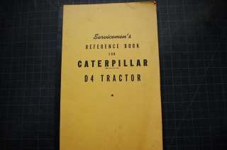 CAT Caterpillar D4 Tractor Crawler Dozer Repair Shop Service Manual