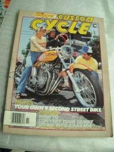 STREET CHOPPER 1981 QTY 3 ISSUES HONDAMONIUM BONNIVILLES BLACK