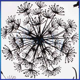 Flying Dandelion Wall Decal Removable Wall Sticker Black Mordern Room