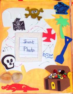 12 Super Pirate Treasure Map Magnet Frames Party Favors